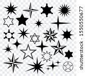 stars black silhouettes... | Shutterstock .eps vector #1550550677