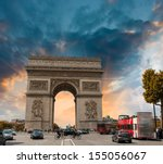 stunning sunset over arc de... | Shutterstock . vector #155056067