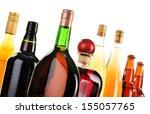 assorted alcoholic beverages...   Shutterstock . vector #155057765