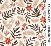 christmas seamless pattern with ... | Shutterstock .eps vector #1550595461