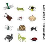 insect animal set  | Shutterstock . vector #155059895