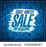 great winter sale vector poster ...   Shutterstock .eps vector #1550608457