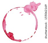 Wine Glass Mark Isolated On...