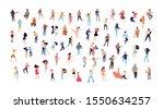 dancing people vector isolated... | Shutterstock .eps vector #1550634257