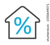 percent icon isolated on... | Shutterstock . vector #1550649071