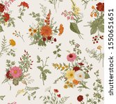 vintage floral illustration.... | Shutterstock .eps vector #1550651651