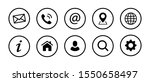 set of web contact icons | Shutterstock .eps vector #1550658497