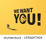 hiring ad banner or poster... | Shutterstock .eps vector #1550697404