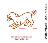 dog behavior icon. domestic... | Shutterstock .eps vector #1550715311