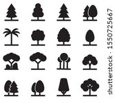 tree icons set. tree symbols ... | Shutterstock .eps vector #1550725667