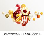 new year 2020. 3d figures and... | Shutterstock .eps vector #1550729441