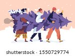 happy friends carrying...   Shutterstock .eps vector #1550729774