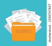 folder with documents  vector... | Shutterstock .eps vector #1550747837