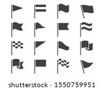 flag icons. black waving... | Shutterstock .eps vector #1550759951