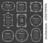vintage frame on chalkboard.... | Shutterstock .eps vector #1550759954