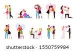 couple in love set. loving... | Shutterstock .eps vector #1550759984