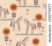 horses seamless pattern. cute...   Shutterstock .eps vector #1550770577