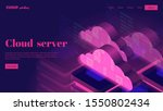 isomeric cloud services. web...   Shutterstock .eps vector #1550802434