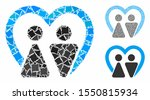 marriage mosaic of unequal... | Shutterstock .eps vector #1550815934
