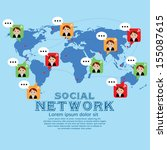 social network vector... | Shutterstock .eps vector #155087615