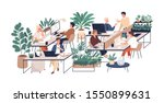 green office flat vector... | Shutterstock .eps vector #1550899631