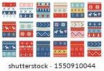seamless christmas patterns.... | Shutterstock .eps vector #1550910044