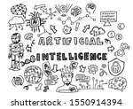 hand drawn ai artificial... | Shutterstock .eps vector #1550914394