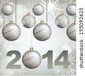 new year design over gray... | Shutterstock .eps vector #155092625