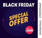 black friday sale   banner...   Shutterstock .eps vector #1550935664