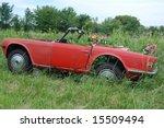 Old Car In Farmer\'s Field