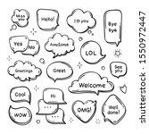 vector hand drawn set of speech ... | Shutterstock .eps vector #1550972447
