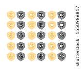initial alphabet abstract... | Shutterstock .eps vector #1550986817
