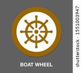 boat wheel icon. flat... | Shutterstock .eps vector #1551003947