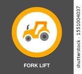 forklift icon  warehouse... | Shutterstock .eps vector #1551004037