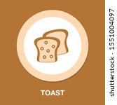 vector toast icon. flat... | Shutterstock .eps vector #1551004097