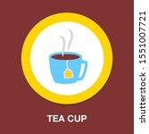 tea cup icon   vector coffee... | Shutterstock .eps vector #1551007721