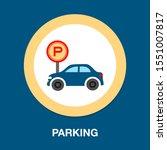 parking location pin vector... | Shutterstock .eps vector #1551007817