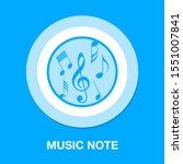 vector musical note symbol  ... | Shutterstock .eps vector #1551007841