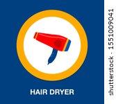 vector hair dryer illustration... | Shutterstock .eps vector #1551009041