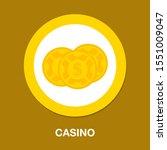 dollar icon   vector casino... | Shutterstock .eps vector #1551009047