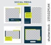 set modern square editable... | Shutterstock .eps vector #1551029144