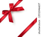 red bow and horizontal ribbon... | Shutterstock .eps vector #1551046637