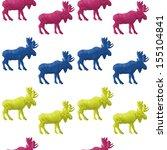 abstract triangular moose... | Shutterstock .eps vector #155104841
