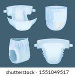 diaper realistic. baby... | Shutterstock .eps vector #1551049517