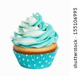 Teal Birthday Cupcake With...
