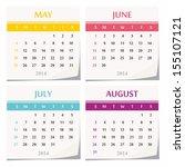 2014 Calendar Design   Set Of...