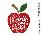 thank you teacher iron on... | Shutterstock .eps vector #1551080861