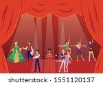 theater actors or show artists...   Shutterstock .eps vector #1551120137