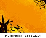 halloween background. halloween ... | Shutterstock . vector #155112209