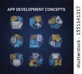 app development neon light...